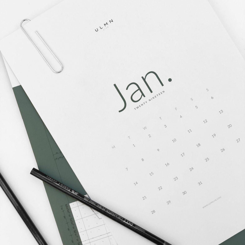 Free Printable Calendar 2019 cover