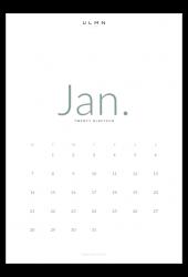print calendar green